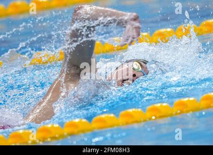 Qingdao, Chine. 5 mai 2021. Cheng long de Shandong participe à la finale libre de 800 m masculin aux Championnats nationaux chinois de natation 2021 à Qingdao, en Chine orientale, le 5 mai 2021. Credit: Xu Chang/Xinhua/Alay Live News
