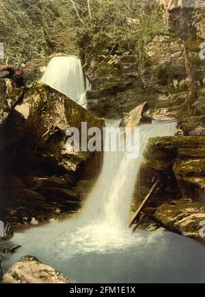 Les Upper Falls de Glen Lyn gorge près de Lynmouth in Devin vers 1890-1900