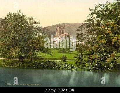 Grand Prieuré de Malvern et les collines de Malvern dans Worcestershire vers 1890-1900