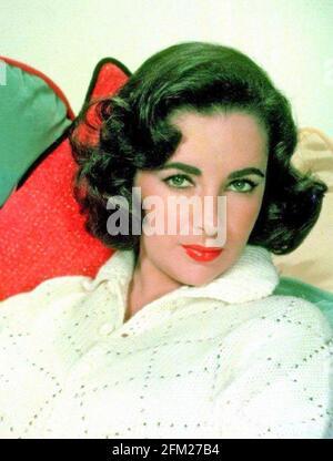 ELIZABETH TAYLOR (1932-2011) Actrice anglo-américaine à propos de 1958