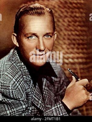 BING CROSBY (1903-1977) américain, chanteur et acteur de cinéma vers 1950