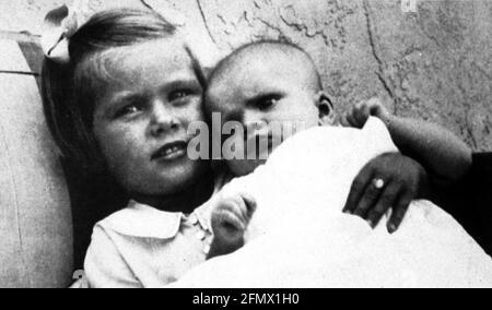 Kelly, Grace, 12.11.1929 - 14.9.1982, actrice américaine, portrait, À l'âge de 4 ans, DES INFORMATIONS-SUPPLÉMENTAIRES-DROITS-AUTORISATION-NON-DISPONIBLES