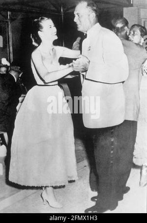 Kelly, Grace, 12.11.1929 -14.9.1982, actrice américaine, avec son père John Brendan Kelly, DROITS-SUPPLÉMENTAIRES-AUTORISATION-INFO-NON-DISPONIBLE