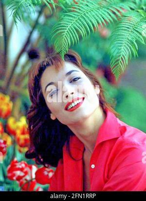 ELSA MARTINELLI (1935-2017) actrice italienne de film et modèle de mode environ 1958