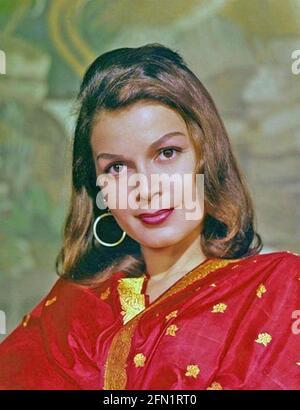 EVA BARTOK (1927-1998) actrice anglo-hongroise vers 1958