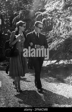Kelly, Grace, 12.11.1929 -, 14.9.1982, actrice américaine, Avec le Prince Rainier III, de Monaco, DES DROITS supplémentaires-AUTORISATION-INFO-NON-DISPONIBLES