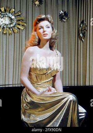 JULIE LONDON (1926-2000) chanteuse américaine et actrice fim vers 1957