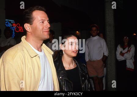 Bruce Willis et demi Moore Circa 1990 crédit : Ralph Dominguez/MediaPunch
