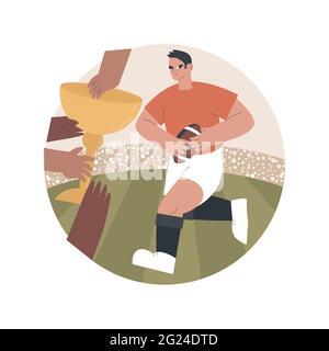 Illustration du vecteur de concept abstrait Rugby.