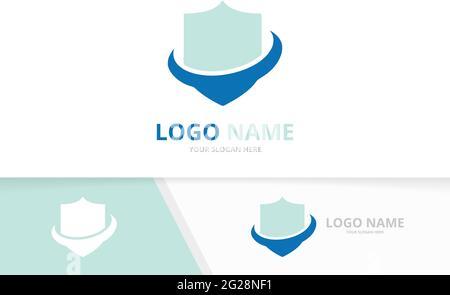 Logo de sécurité Premium. Écran de protection, modèle de conception de logo de protection