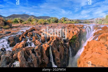 Epupa Falls, Namibie, près de la frontière de l'Angola