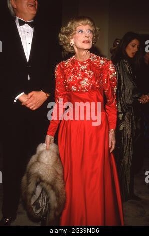 Bette Davis au cinquième prix annuel du cinéma américain le 30 janvier 1988 à l'hôtel Beverly Hilton de Beverly Hills, Californie crédit: Ralph Dominguez/MediaPunch