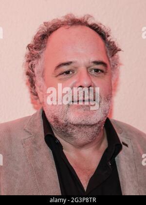Le chef du spectacle MDR Peter Dreckmann au Festival de l'Avent de 100,000 lumières le 30,2019 novembre