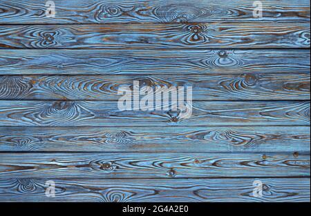 Planches en bois bleu, vieux fond grunge et la texture du bois de couleur bleu
