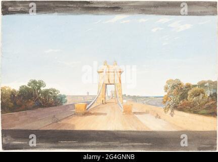 Pont suspendu de Clifton près de Bristol, c. 1832. Attribué à James Bulwer.