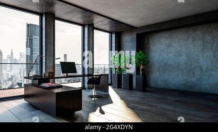 Design 3D du bureau moderne