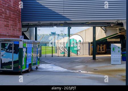 LA NOUVELLE-ORLÉANS, LA, États-Unis - 24 JUIN 2021 : entrée étudiante au stade Yulman sur le campus de l'Université Tulane