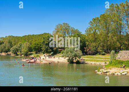 France, Seine et Marne, Chelles, les bords de la Marne, la plage