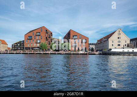 Kroyers Plads bâtiments dans le front de mer de Christianshavn - Copenhague, Danemark