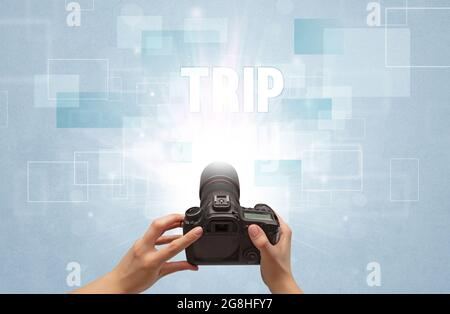 appareil photo numérique portable, concept de voyage
