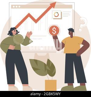 Illustration vectorielle abstraite de concept de conseiller financier.
