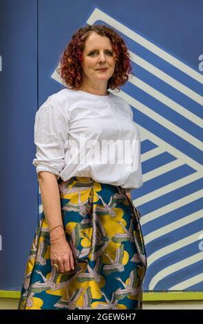 Édimbourg, Écosse, Royaume-Uni, 21 août 2021. Festival international du livre d'Édimbourg : en photo : l'auteure Maggie O'Farrell, basée à Édimbourg, est présente aujourd'hui au festival du livre pour parler de son roman 'Hamnet', lauréat du Prix des femmes pour la fiction