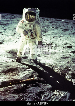 L'astronaute américain Neil Armstrong en tant que commandant de mission de l'alunissage d'Apollo 11 le 20 juillet Banque D'Images