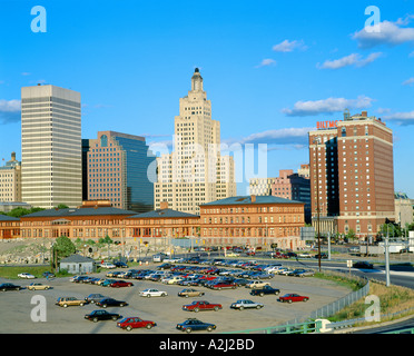Providence, Rhode Island State Capitol Skyline Banque D'Images