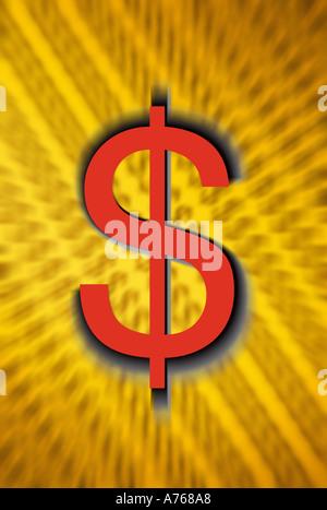 Le symbole du dollar US Banque D'Images