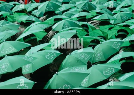 Taipei Taiwan voyage fête nationale chapeau parapluie Banque D'Images