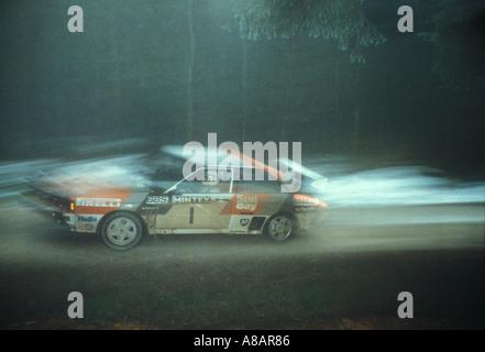Audi Quattro Rally voiture conduite par Stig Blomqvist 1983 Banque D'Images