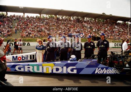 Viveca averstadts grundig à Hockenheim dragster top fuel dragster en Allemagne voiture course0) 5603 hot rod V8 Banque D'Images