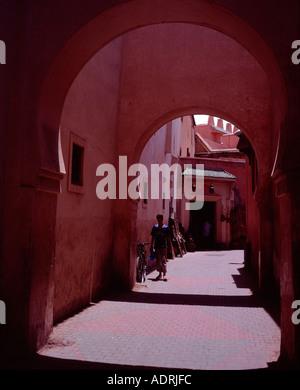 Plus d'Archway street dans la Médina Marrakech Maroc Banque D'Images