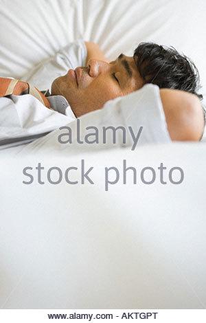 Homme endormi Banque D'Images