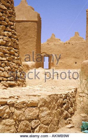 En Asie, au Moyen-Orient, l'Arabie saoudite, Dir'iyyah, Tarayf, sur Wadi Hanifah, au nord-ouest de Riyad. Tour de Banque D'Images
