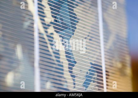 Close up panneau solaire polycristallin de produire de l'électricité. Structure cristalline bien visibles. Banque D'Images