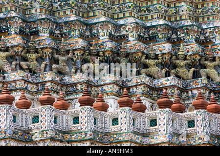 Wat Arun Temple de l'aube Bangkok Thaïlande Banque D'Images