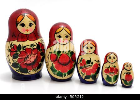 Poupées russes d'emboîtement, Matryoshki Banque D'Images