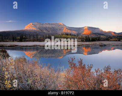 Canapé Mountian, Waterton Lakes National Park, Alberta, Canada Banque D'Images