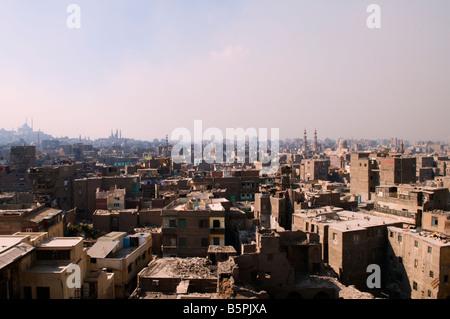 Vue de la mosquée Al Azhar au vieux Caire Egypte Banque D'Images