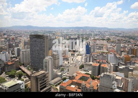 Sur les toits de la ville de Sao Paulo au Brésil Banque D'Images