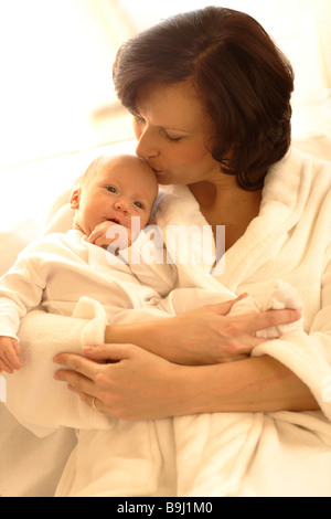 Mother with baby girl Banque D'Images