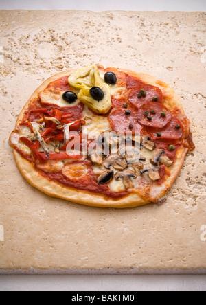 Pizza quatre saisons Banque D'Images