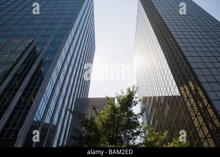 Gratte-ciel dans le quartier financier de Vancouver Banque D'Images