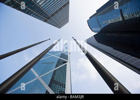 Gratte-ciel de hong kong Banque D'Images