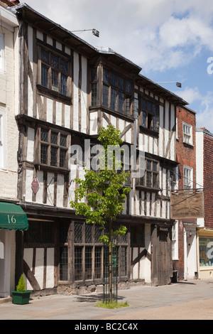 Canterbury Kent England UK Europe Conquest Chambre antique shop dans un immeuble historique Banque D'Images