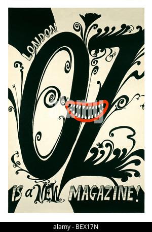 L'affiche de la rue pour le premier numéro du magazine oz en 1967 Banque D'Images