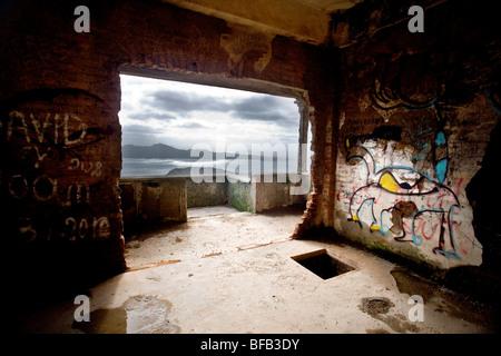 Bâtiment abandonné, Cap Formentor, Majorque Banque D'Images