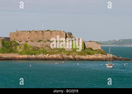 Château Cornet, St Peter-Port, Guernsey, Channel Islands, Royaume-Uni, Europe Banque D'Images