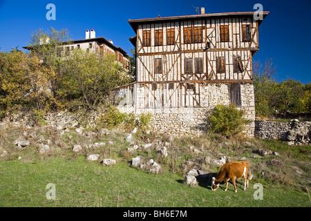 Les détails architecturaux de Safranbolu Turquie maisons Banque D'Images